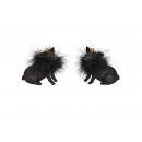 Maiale con glitter realizzato in polietilene nero
