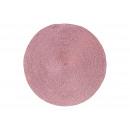 Tovaglietta realizzata in plastica rosa / rosa Ø38