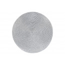 Tovaglietta realizzata in plastica argento Ø38cm