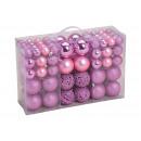 Set di palline di Natale in plastica Rosé 100er Se
