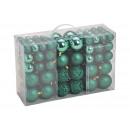 ingrosso Decorazioni: Set di palline di Natale in plastica verde set di