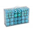 Set di palline di Natale in plastica turchese 100