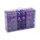Set di palline di Natale in plastica viola Set di