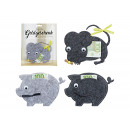 wholesale Gifts & Stationery: Gift of money, pig, mouse made of felt Gray 4-fold