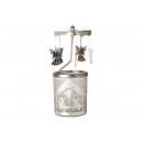 Lanterna di vetro con culla in metallo 6x15c