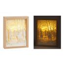 grossiste Decoration et jardin et eclairage: Silhouette d'orignal dans la forêt, avec oisea