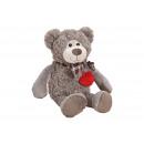 groothandel Poppen & Pluche: Pluche beer grijs (B / H / D) 16x23x24cm