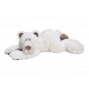 Peluche orso polare sdraiato bianco (B / H / D) 58
