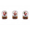 Snow Globe Babbo Natale realizzato in Poly Brown 3