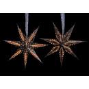 7-puntige ster, flock, gemaakt van papier / pap