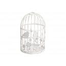 Cage à oiseaux en métal blanc (l / h / p) 12x22x12