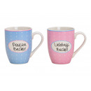 Tazza per tazza, tazza di porcellana preferita