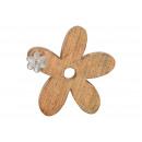 Espositore Fiore di legno di mango, metallo marron