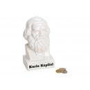 Money Bank Karls Kapital in porcellana bianca (B /