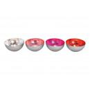 Coppa Windlight in metallo argento, rosso, rosa, r