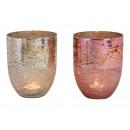 Lanterna di vetro Champagne, rosa 2 volte ordiname