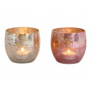 Glass lantern Champagne, pink 2-fold sorting