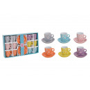 wholesale Crockery: Cups set with saucer, flowers decor of Kerami