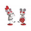 Mouse con cuore in metallo Colorful volte assortit
