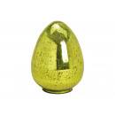 Ottica lucida per uovo di Pasqua in vetro verde (L