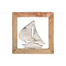Barca a vela sospesa in metallo con struttura in l