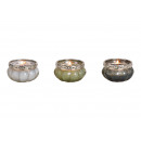 Windlight glass Multi-colored 3 times assorted , (