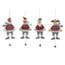 wholesale Wooden Toys: Christmas Hampel figures made of wood, B14 cm