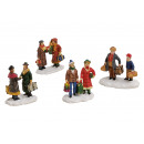 Miniatura figure di Natale da poli assortito, B5 x