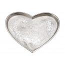 piatti , Vassoio cuore in metallo argento (L / A /