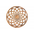 Wall hanger flower decor made of mago wood nature