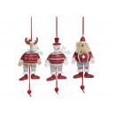 personaggi fantoccio Natale da 3x Tipo di legno