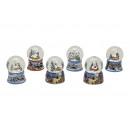 palla di neve Natale decorazione della ceramica, 6