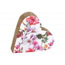 Espositore Decorazione floreale a cuore in legno d