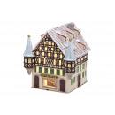 Großhandel Mäntel & Jacken: Windlichthaus Sparkasse aus Porzellan, B16 x ...