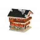 Casa con illuminazione di poli, B18 x T18 x H20 cm