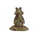 Yoga Frog of Magnesia Antique Green (B / H / D) 35