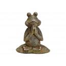 Yoga Rana di Magnesia Verde antico (B / H / D) 35x
