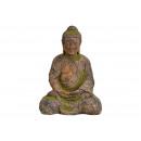 Buddha di Magnesia Verde antico (B / H / D) 30x42x
