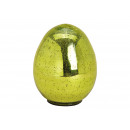Easter Egg Glass Look Glass Green (B / H / D) 14x2