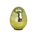 Glass Egg Glass Effect Green (B / H / D) 12x17x12c