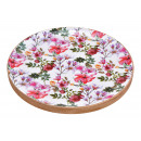 Tray Flowers Decor of Mango Woods Colorful (B / H
