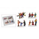 Natale in miniatura figura insieme di poli, 4 pezz