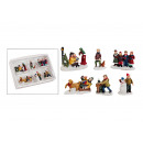 Miniatura Natale Figure Set di poli, 6 pezzi