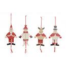 personaggi fantoccio di Natale di legno, 4-sor