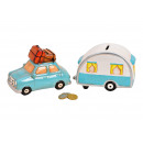 wholesale Gifts & Stationery: Money Box Set of 2, Car with Pendant in Ceramic,