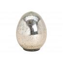 Ottica lucida per uovo di Pasqua in vetro argento