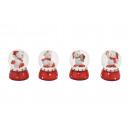 vetro Schneekugel Weihnachtsbär / poly, 4 volte