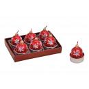 palle Luce Tea Set di Natale 6 pannelli, B3,5 x T5