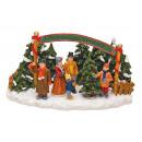 Natale stand di vendita degli alberi Poly, B17 x T