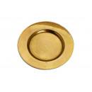 hurtownia Upominki & Artykuly papiernicze: Talerz złoto z tworzywa sztucznego, B17 cm